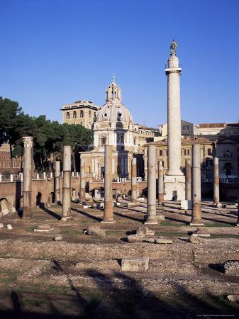 Trajan's Forum, Unesco World Heritage Site, Rome, Lazio, Italy