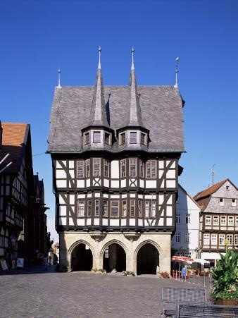 Townhall and Market Square, Alsfeld, Hesse, Germany