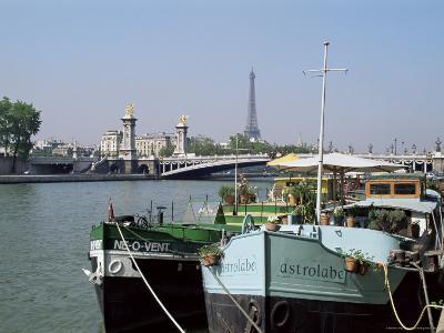 River Seine at Port Des Champs Elysees, Paris, France