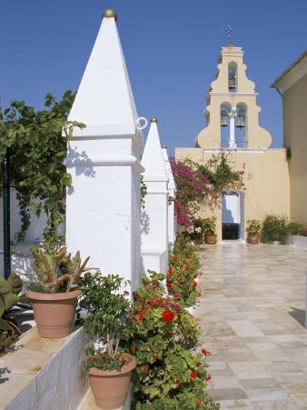 Monastery, Paleokastritsa, Corfu, Greek Islands, Greece
