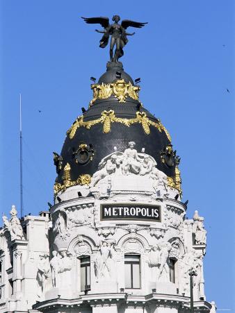 Metropolis Building, Gran Via, Madrid, Spain