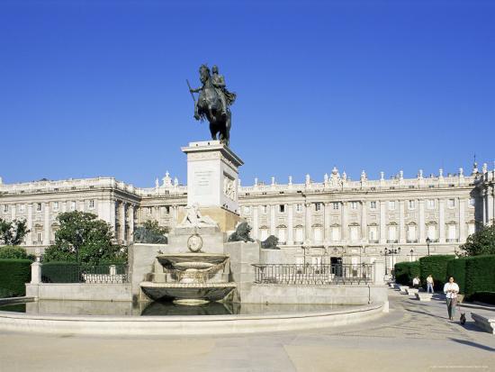 Plaza De Oriente And Palacio Real Madrid Spain