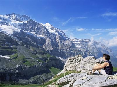 View from Kleine Scheidegg to Jungfrau, Bernese Oberland, Switzerland