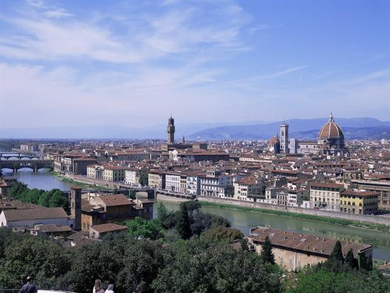 Italian Florence: View Of City From Piazzale Michelangelo, Florence, Tuscany