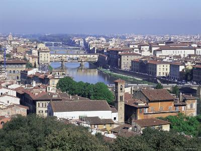 View of City from Piazzale Michelangelo, Florence, Tuscany, Italy