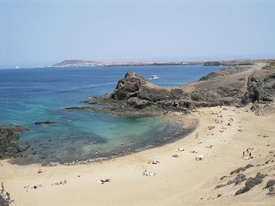 Playa De Papagayo, Lanzarote, Canary Islands, Spain, Atlantic