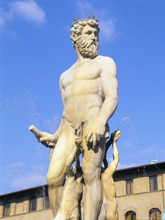 Neptune Fountain, Piazza Della Signoria, Florence, Tuscany, Italy