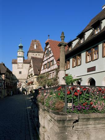Rodergasse, Rothenburg Ob Der Tauber, Bavaria, Germany