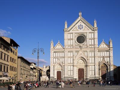 Piazza Santa Croce, Florence, Tuscany, Italy