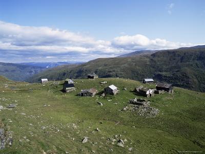 Landscape in Aurlandsdalen, Sogn Og Fjordane, Norway, Scandinavia
