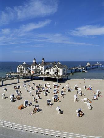 Pier at Sellin, Island of Rugen, Mecklenburg-Vorpommern, Germany