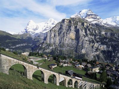 Murren, Eiger, Monch and Jungfrau, Bernese Oberland, Switzerland