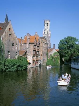 Rozenhoedkai and Belfried, Bruges (Brugge), Unesco World Heritage Site, Belgium