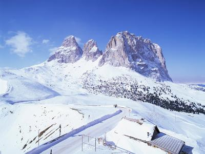 Sasso Lungo and Passo Di Sella, Trentino Alto Adige, South Tirol, Dolomites, Italy