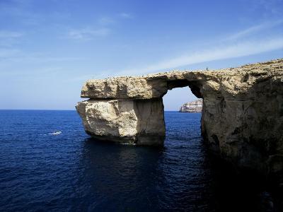 Azur Window at Dwerja Point, Island of Gozo, Malta, Mediterranean