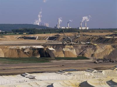 Brown Coal Mining, Bergheim, Near Cologne, Germany