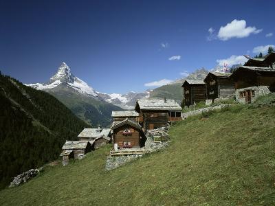 The Matterhorn, 4478M, from Findeln, Valais, Swiss Alps, Switzerland