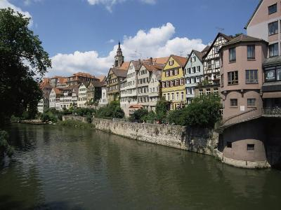 Old Town and River Neckar, Tubingen, Baden-Wurttemberg, Germany