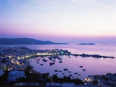 Evening View Over Mykonos, Cyclades, Greek Islands, Greece