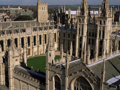All Souls College and Quadrangle, Oxford, Oxfordshire, England, United Kingdom