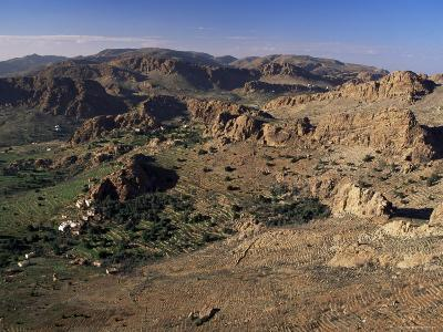 Hamlets and Terraces in the Anti-Atlas Mountains, Tafraoute Region, South West Area, Morocco