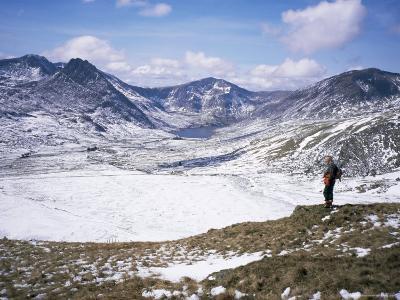 Winter Walking in the Carneddau Mountains, Snowdonia National Park, Wales, United Kingdom