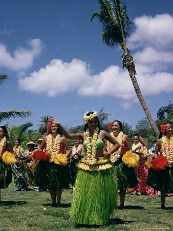 Hula Dance, Waikiki, Hawaii, Hawaiian Islands, Pacific, USA