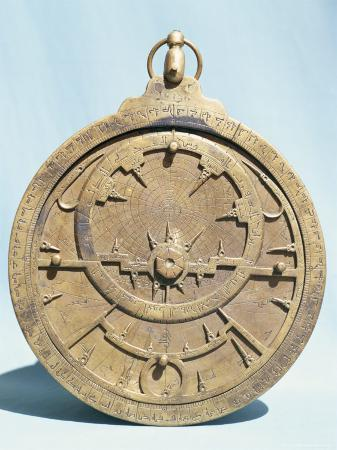 Arabic Brass Astrolabe Dating from 16th Century, Damascus Museum, Syria, Middle East