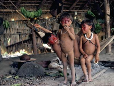 Yanomami Children, Brazil, South America