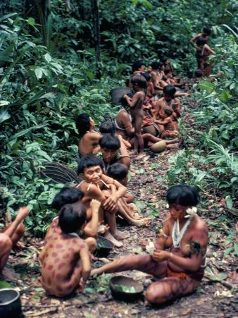 Yanomami on the Way to a Feast, Brazil, South America