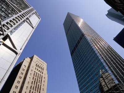 Hsbc Building on Left, and Cheung Kong Center on Right, Central, Hong Kong Island, Hong Kong, China