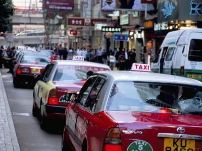 Taxis, Causeway Bay, Hong Kong Island, Hong Kong, China