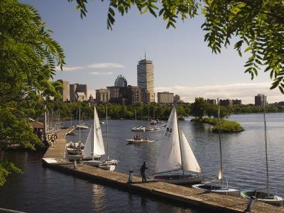 Boating on the Charles River, Boston, Massachusetts, New England, USA