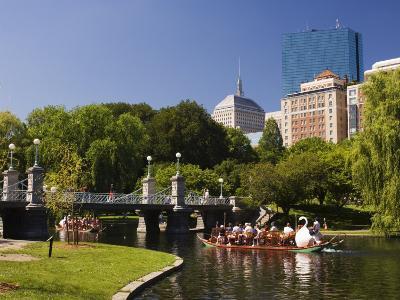 Lagoon Bridge and Swan Boat in the Public Garden, Boston, Massachusetts, United States of America