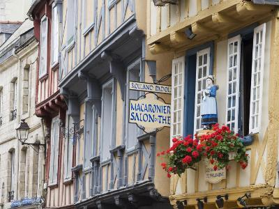 Old Timber Framed Buildings in Quimper, Southern Finistere, Brittany, France