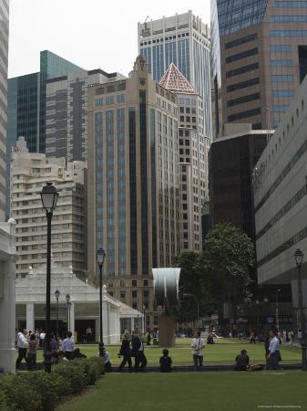 Raffles Place, Financial District, Singapore, Southeast Asia