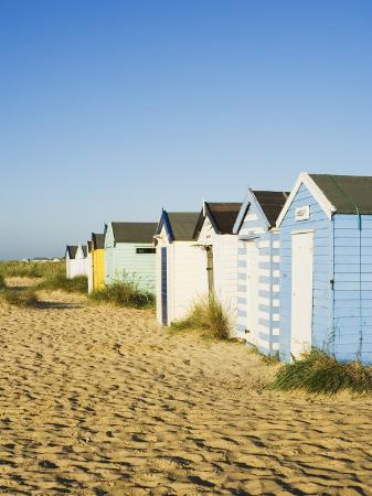 Old Beach Huts, Southwold, Suffolk, England, United Kingdom