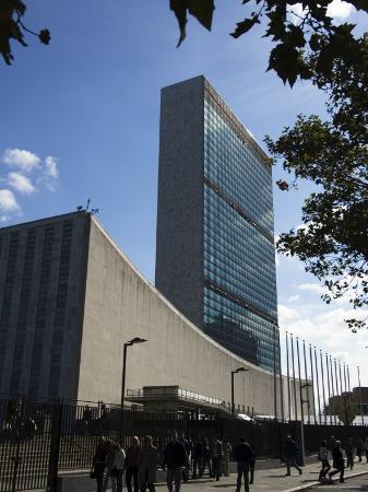 United Nations Headquarters Building, Manhattan, New York City, New York, USA