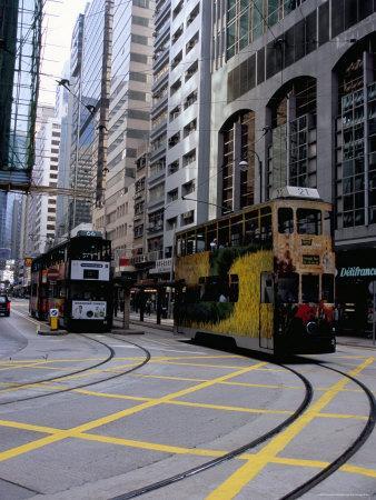 Tram, Sheung Wan, Hong Kong Island, Hong Kong, China