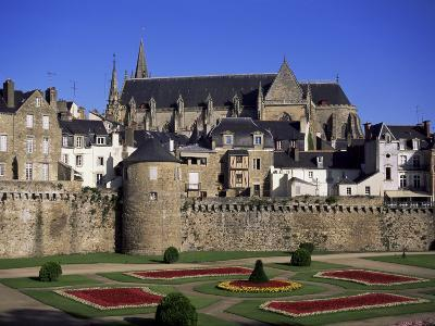 Cathedral and Town, Vannes, Brittany, France