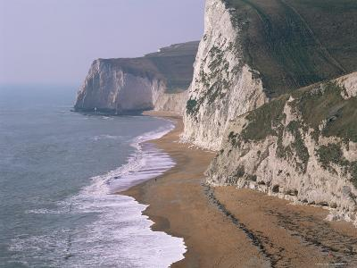 Coast at Bats Head and Swyre Head, Near Durdle Door, Dorset, England, United Kingdom