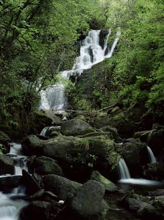 Torc Waterfall, Killarney, County Kerry, Munster, Eire (Republic of Ireland)