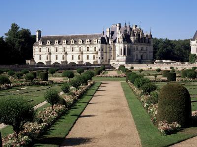 Chateau of Chenonceau and Garden, Touraine, Loire Valley, Centre, France