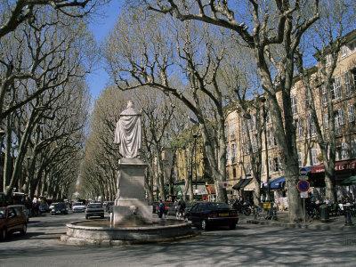 Street Scene, Cours Mirabeau, Aix-En-Provence, Bouches-Du