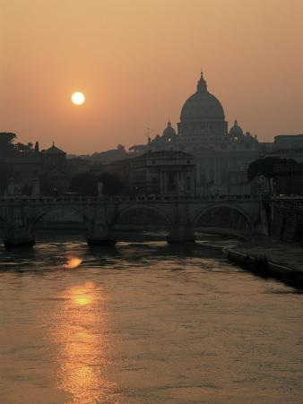 River Tiber and the Vatican, Rome, Lazio, Italy