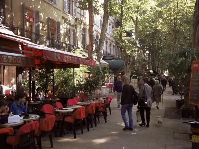 Cours Mirabeau, Aix-En-Provence, Bouches-Du-Rhone, Provence, France
