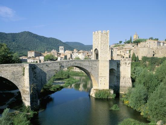 Fortified Bridge Besalu Catalonia Cataluna Catalunya