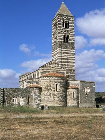 Santissima Trinita Di Saccargia, Logudoro Region, Sardinia, Italy