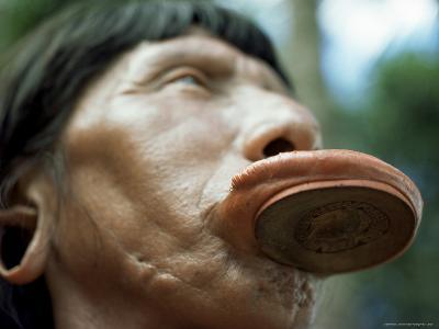 Suya with Lip Plate, Xingu, Brazil, South America