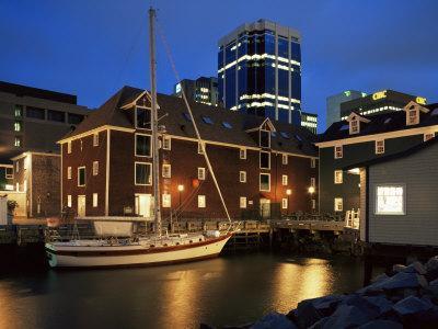 Old Port at Dusk, Halifax, Nova Scotia, Canada